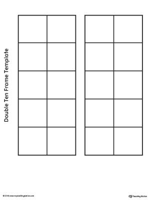 Double Ten Frame Template MyTeachingStation - ten frame template