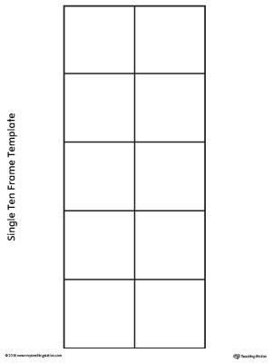 Single Ten Frame Template MyTeachingStation - ten frame template
