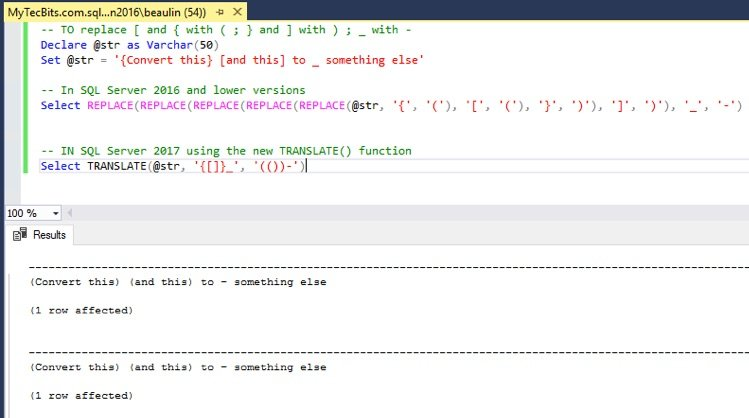 Using TRANSLATE() in SQL Server My Tec Bits - sql convert