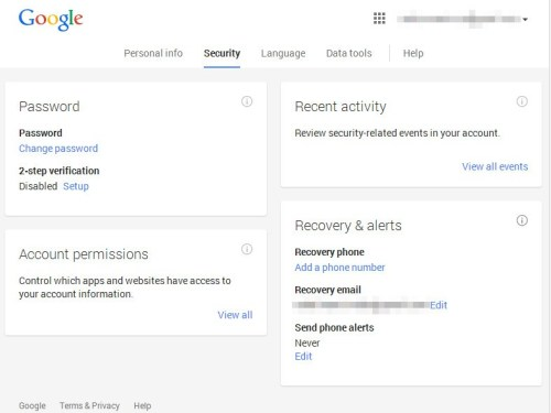 Recover Your Google Account Password via Text Message