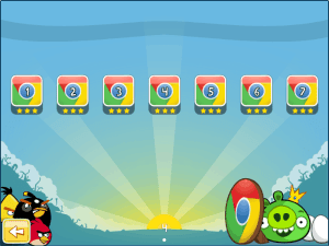 Chrome Angry Birds: Special Chrome levels unlocked!