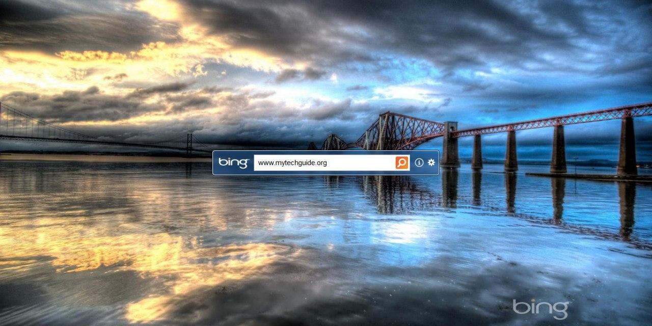 Microsoft Bing Desktop Automatically Sets Bing Background Image as Wallpaper