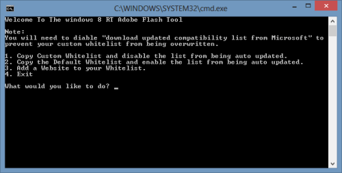 Windows-RT-Whitelist-Flash-Tool