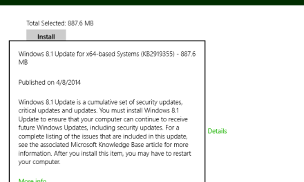 Windows 8.1 Update Problems: Failed To Install Update Due To Errors 80070020, 80073712, 0x800f081f