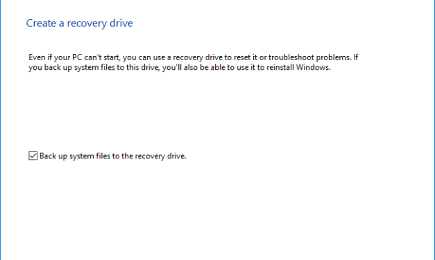 How To Create A Bootable USB Recovery Drive In Windows 10