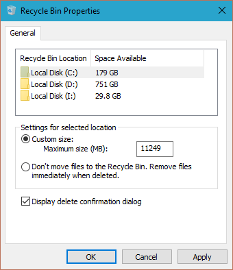 Enable Delete Confirmation Dialog Box