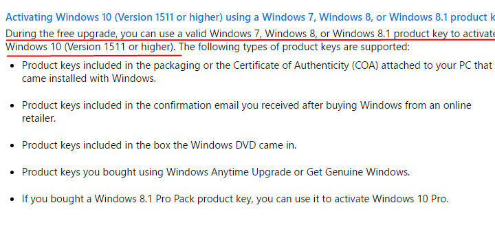 Can I Use Windows 7,8,8.1 Product Key to Activate Windows 10 After July 29, 2016?