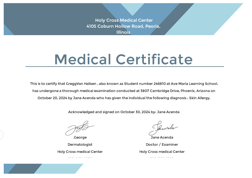 10+ Medical Certificate Templates - Free Templates