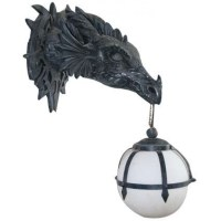 Dragon Wall Sconce | Gothic Home Decor | Dragon Wall Lamp