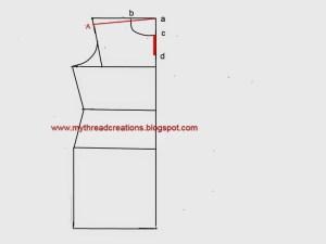 Stitching collar neckline