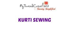 How To Make A Simple  Kurti / Kameez