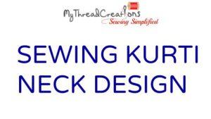 Kurti neck stitching