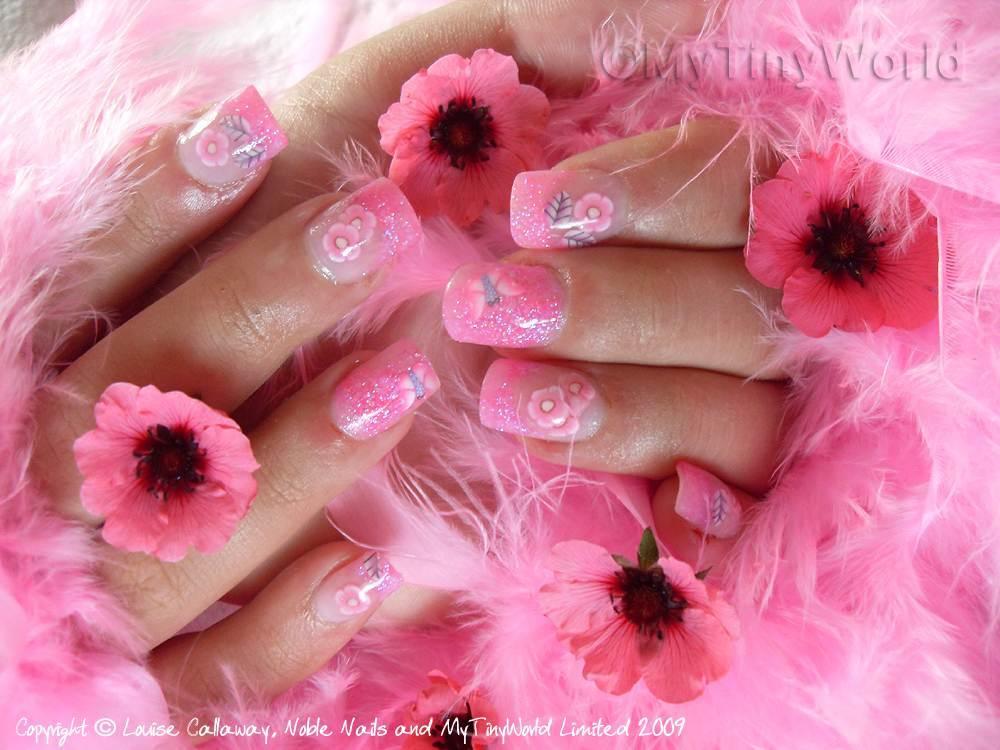 Pretty Pink Acrylic Nail Designs