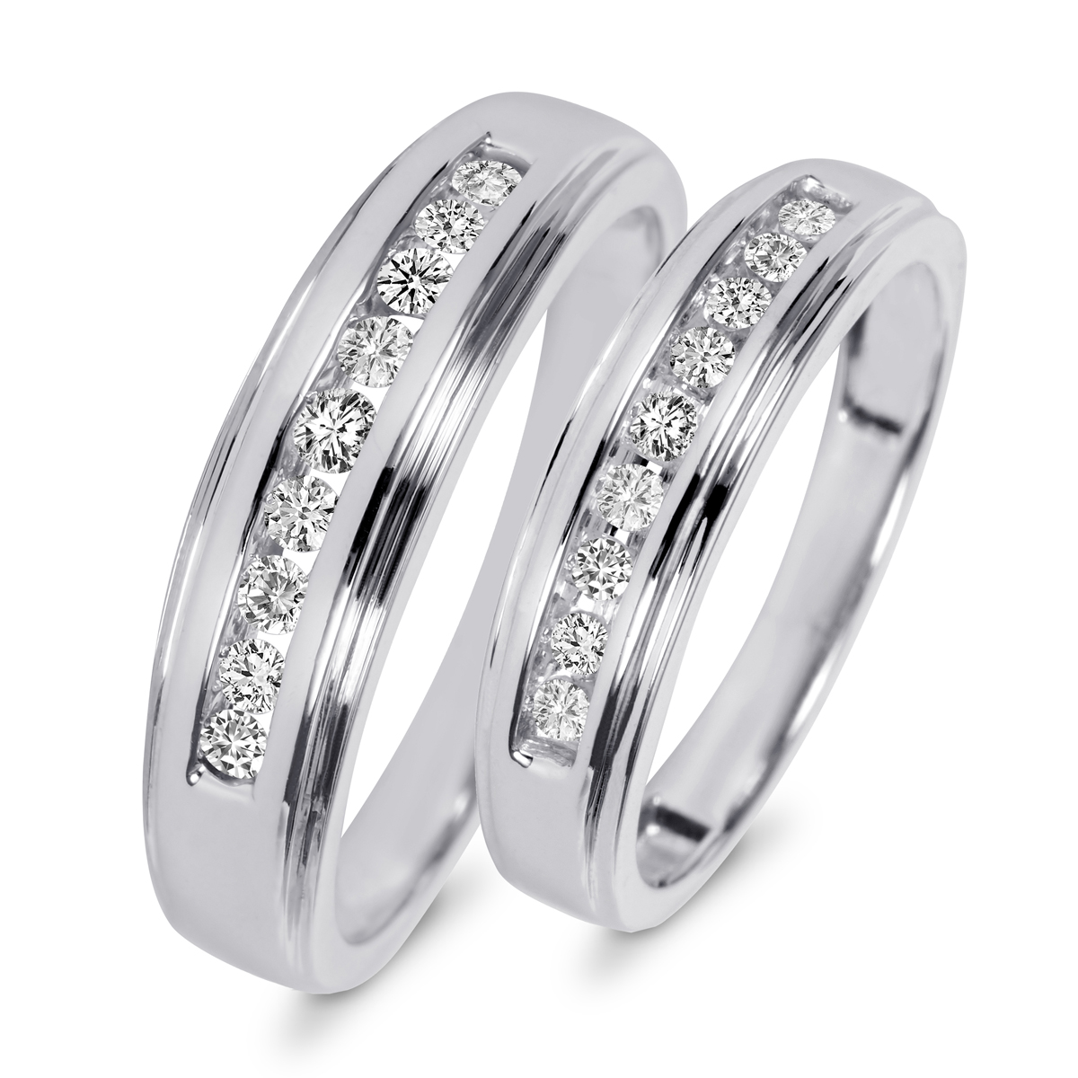 top best wedding bands rings mens women diamond sets titanium gold cheap black white rose gold wedding bands Two Tone Sterling Silver 10k Yellow Gold Wedding Band