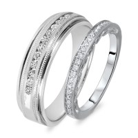 Gold Wedding Rings: White Gold Wedding Rings His And Hers