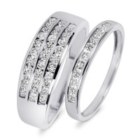 7/8 Carat T.W. Diamond His And Hers Wedding Rings 10K ...