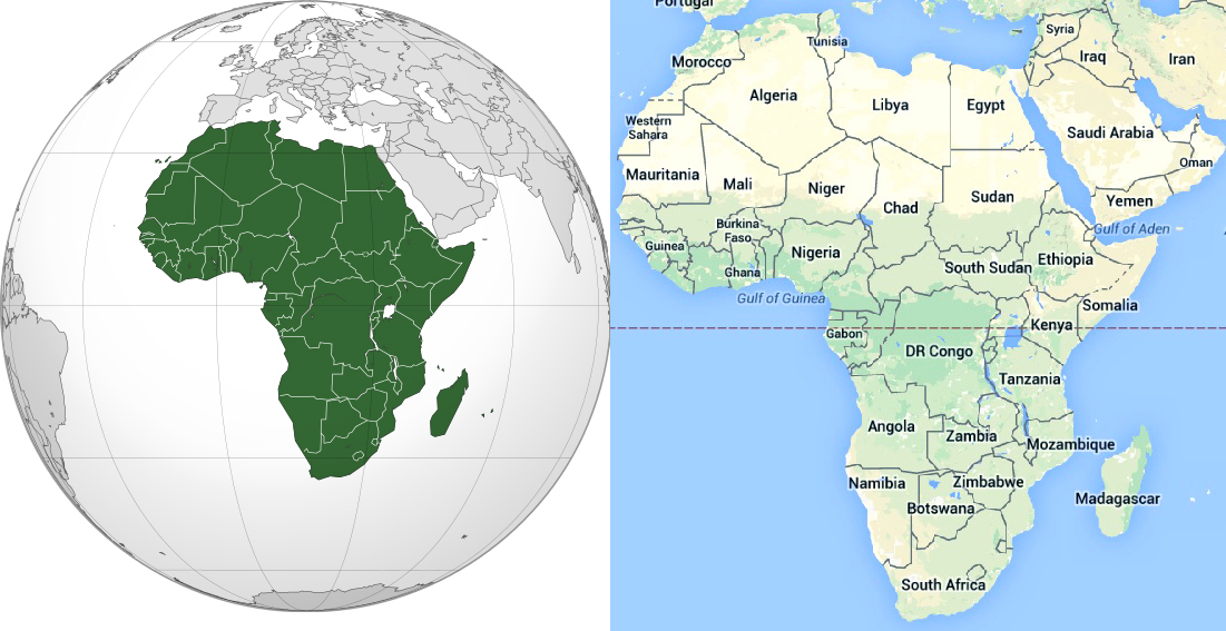 Maps of African Continent, Countries, Capitals and Flags \u2013 Travel
