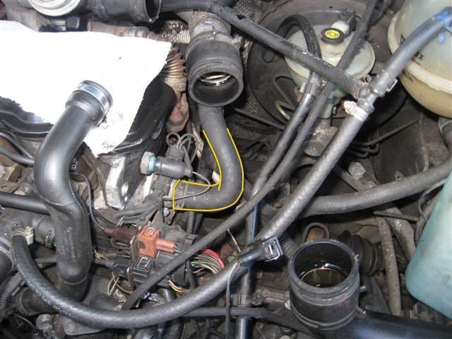 Engine coolant block heater installation on TDI- frostheater VW