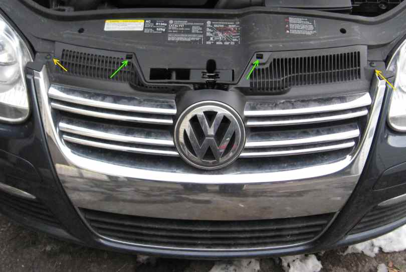 Front bumper and grille removal - mk5 Jetta VW TDI forum, Audi
