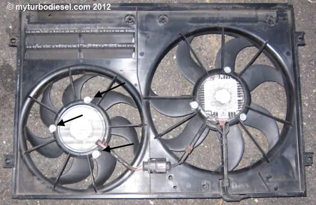Radiator AC fan motor repair on mk5+ VW Jetta/Golf VW TDI forum
