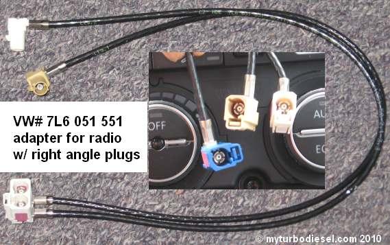 RNS510, RNS315 GPS, or RCD510 installation in a mk5 VW VW TDI