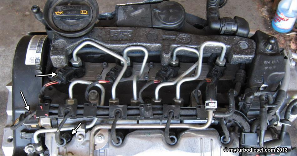 Fuel injector and valve cover removal - CJAA/CBEA 20 TDI engine