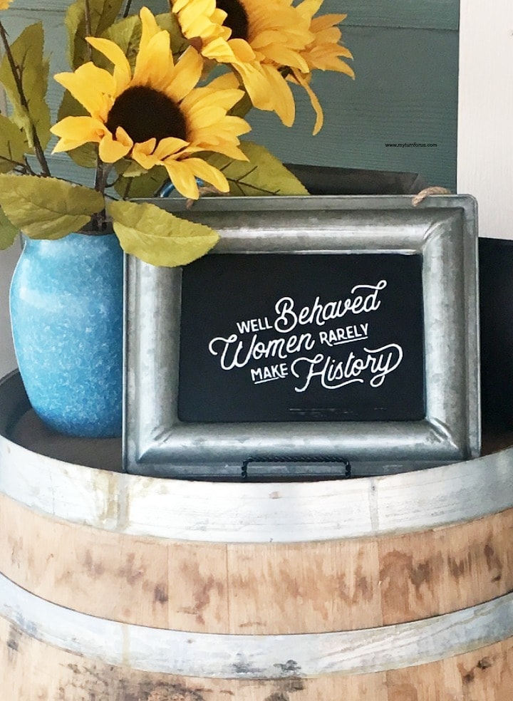 How to Make Chalkboard signs with the Best Chalk Paint - My Turn for Us