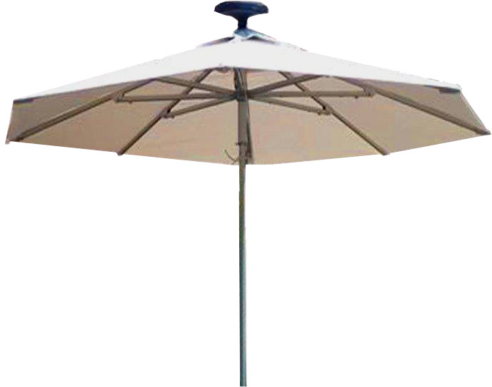 Illumishade Solar Powered Led Lighted Market Umbrella 9 Ft