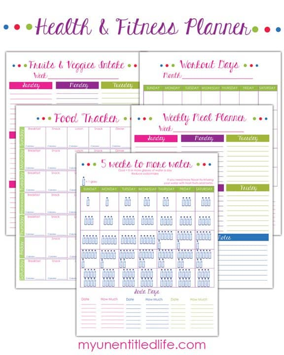 Weight Loss Trackers and Fitness printables