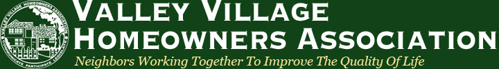Valley Village Homeowners Association's Public Forum on Planning