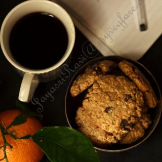 Oranges, Oats, Raisins and chocolate chip cookies