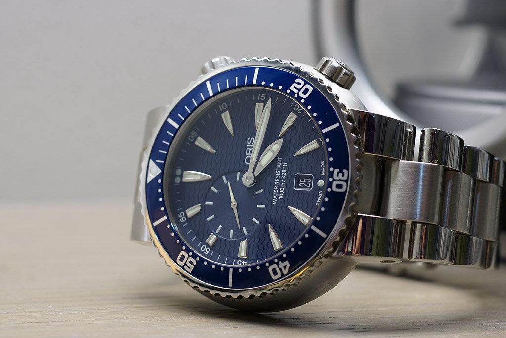 Fs Oris Tt1 1000m Diver On Bracelet 47mm Excellent