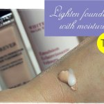 Tip: Liquid foundation too thick or drying? Add a drop of moisturizer!