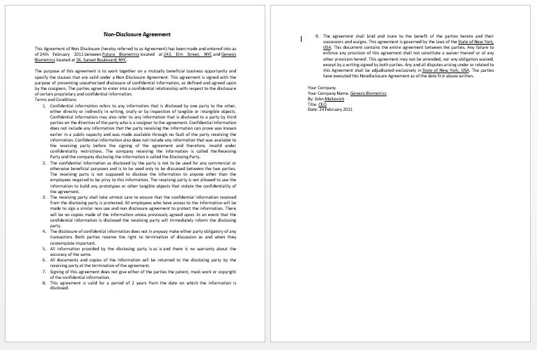 Letter Format For Contract To Permanent Employment – Format for Contract