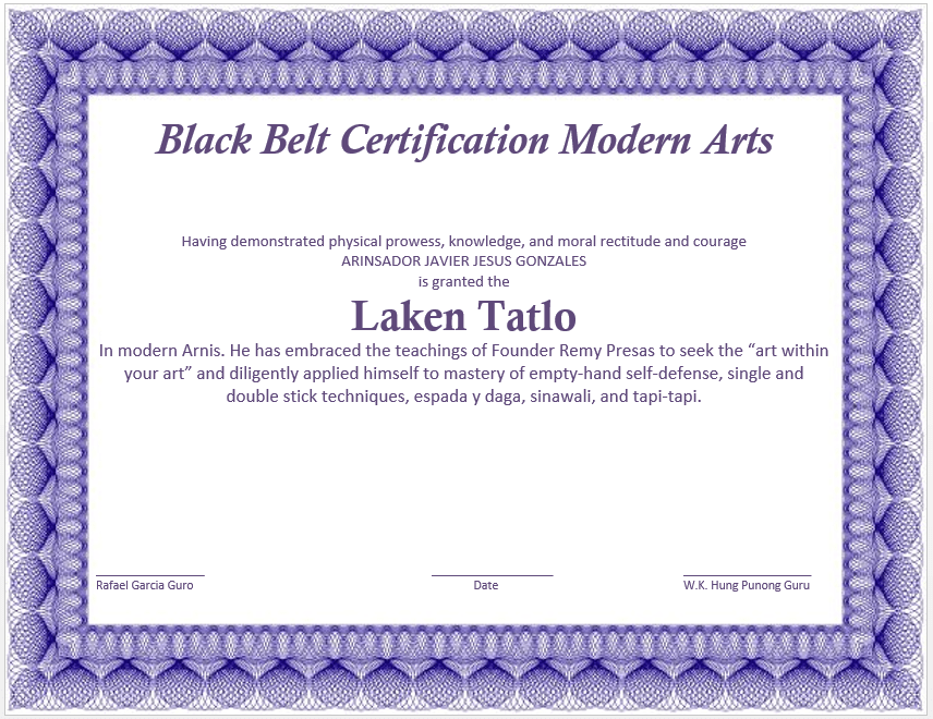 Martial Arts Certificate Template Job Application Letter Without