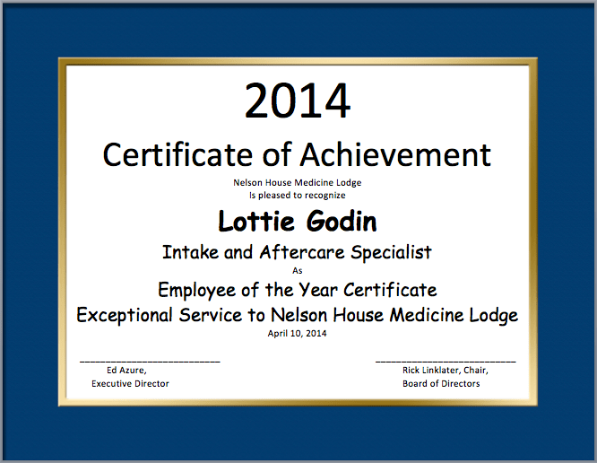 employee month certificate template Template – Employee of the Month Certificate Template Free