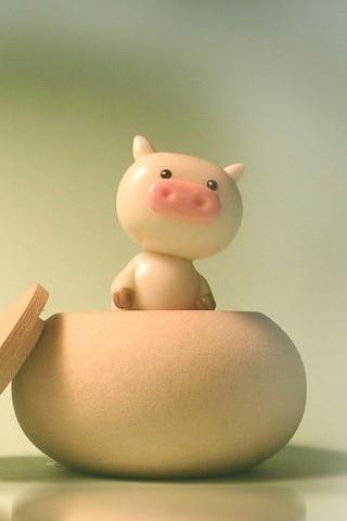 Kawaii Iphone Wallpaper 可爱猪猪 320x480壁纸 卡通动漫 手机壁纸 魅族溜