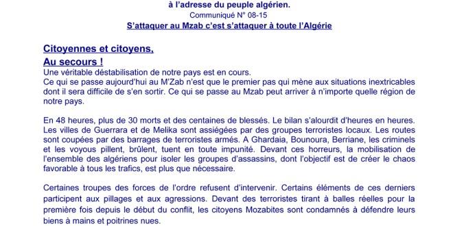 COLLECTIF DES MOZABITES EN EUROPE COMMUNIQUE N°08-15_Page_1sur2