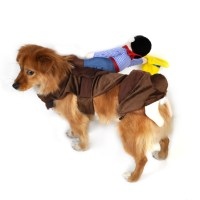 Pet Dog Rider Costume Cowboy Knight Puppy Cat Coat Rider ...