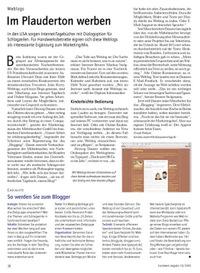 Weblog – Im Plauderton werben