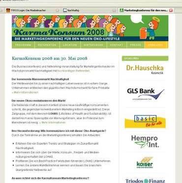 Einladung zum Greencamp, der KarmaKonsum-Konferenz 2008