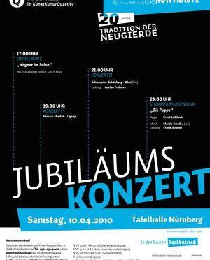Jubiläumskonzert – 20 Jahre ensembleKONTRASTE Nürnberg, Tafelhalle