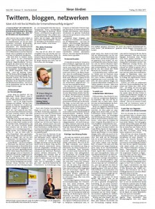 Holzzentralblatt über Twittern, bloggen, netzwerken – mit Möbelmachern, Michael Finger, Klaus Eck, Bernhard Jodeleit, Frank Mühlenbeck und Martin Oetting