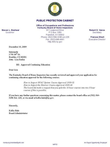 Plumbing Inspector Cover Letter