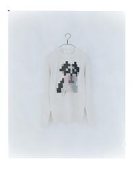 dog (white) men's wool 100% ¥30,000+tax 着丈:67cm 身幅:50cm 裄丈:83cm