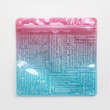 ライゾマティクス_マルティプレックス展オリジナルPake(ジッパーバッグ)  rhizomatiks_multiplex original plastic pouch