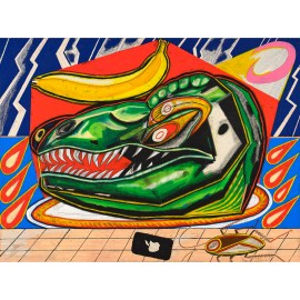 Shohei Takasaki 「Dinosaur head, Lightning, Grid」