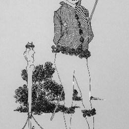 オーブリー・ビアズリー/「〈サヴォイ〉第2号:自画像」1896年/ライン・ブロック/60500円