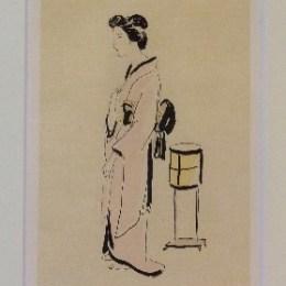 藤田嗣治/レオナール・フジタ「お菊さん:芸者(左向き)」1925年/コロタイプ/99000円