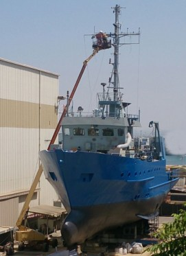 Bat Galim drydock bow-port